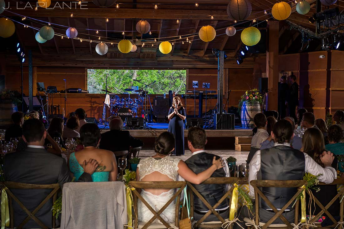 J. LaPlante Photo | Boulder Wedding Photographer | Planet Bluegrass Wedding | Mother of the groom speech