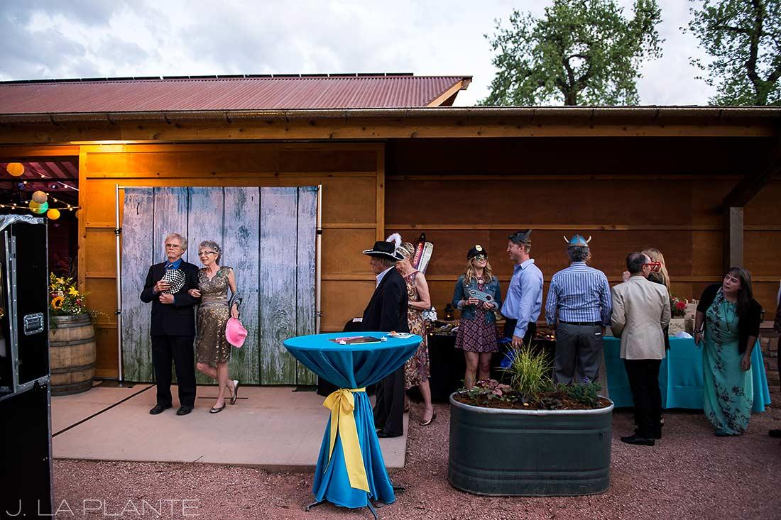 J. LaPlante Photo | Boulder Wedding Photographer | Planet Bluegrass Wedding | Wedding photo booth