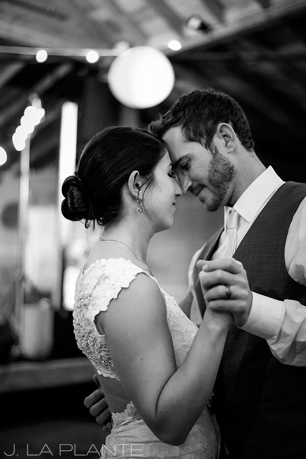 J. La Plante Photo | Boulder Wedding Photographer | Planet Bluegrass Wedding | Bride and groom dancing