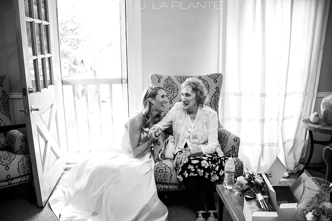 J. La Plante Photo | Denver Wedding Photographer | Chatfield Botanic Gardens Wedding | Bride with Grandmother