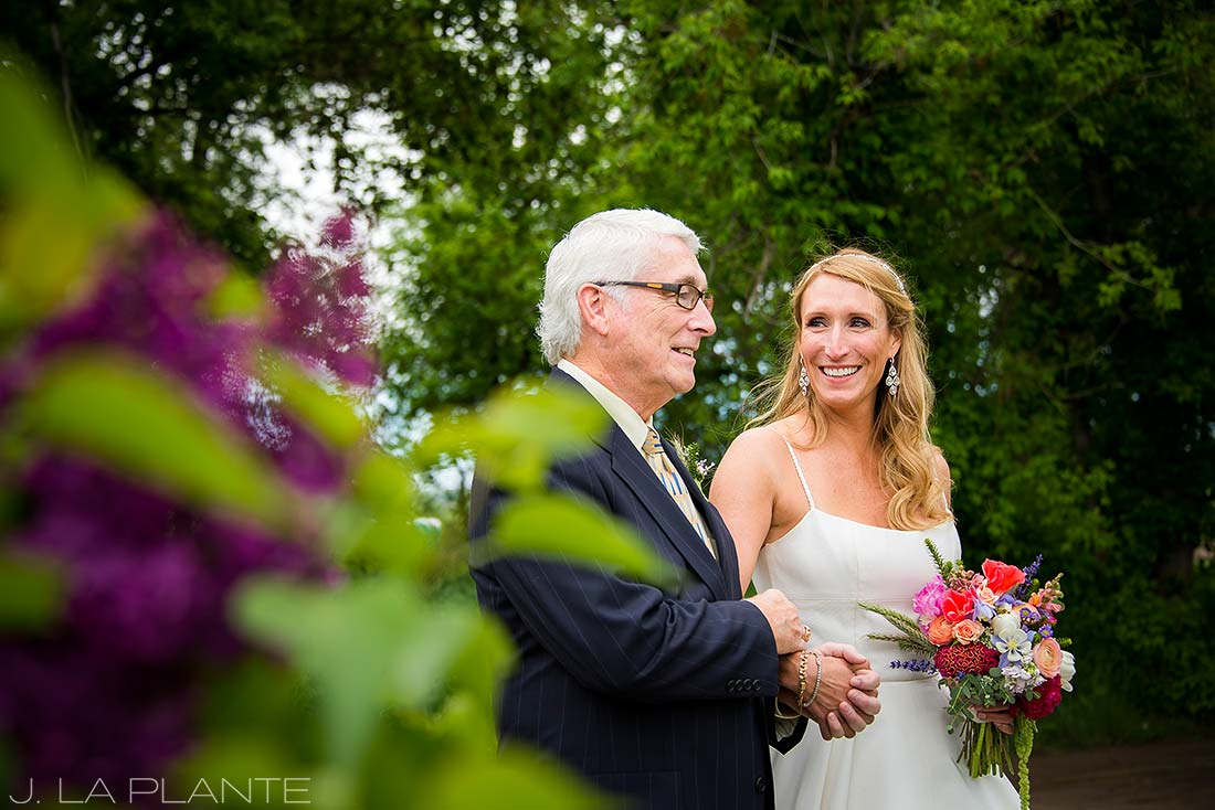 J. La Plante Photo | Denver Wedding Photographer | Chatfield Botanic Gardens Wedding | Bride with Father