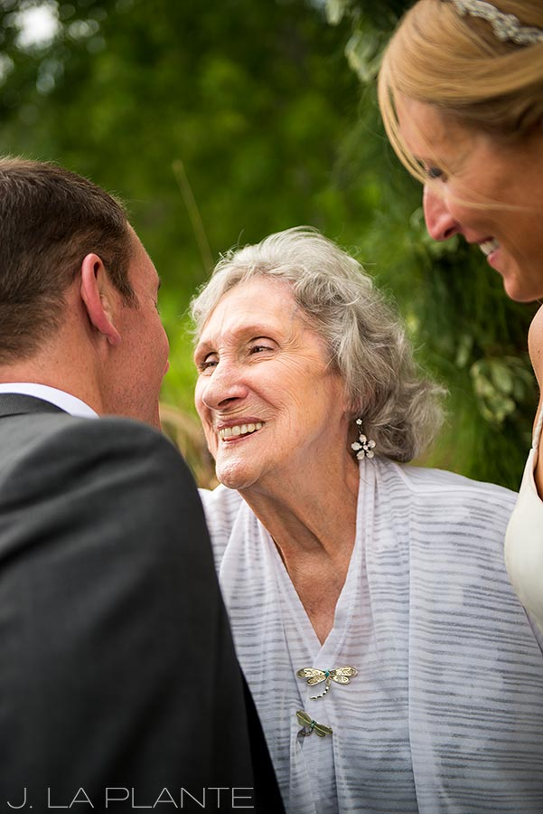 J. La Plante Photo | Denver Wedding Photographer | Chatfield Botanic Gardens Wedding | Brides Grandma with Groom
