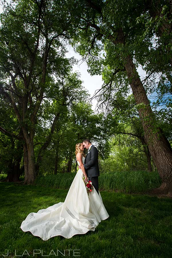 J. La Plante Photo | Denver Wedding Photographer | Chatfield Botanic Gardens Wedding | Brides and Groom in Trees