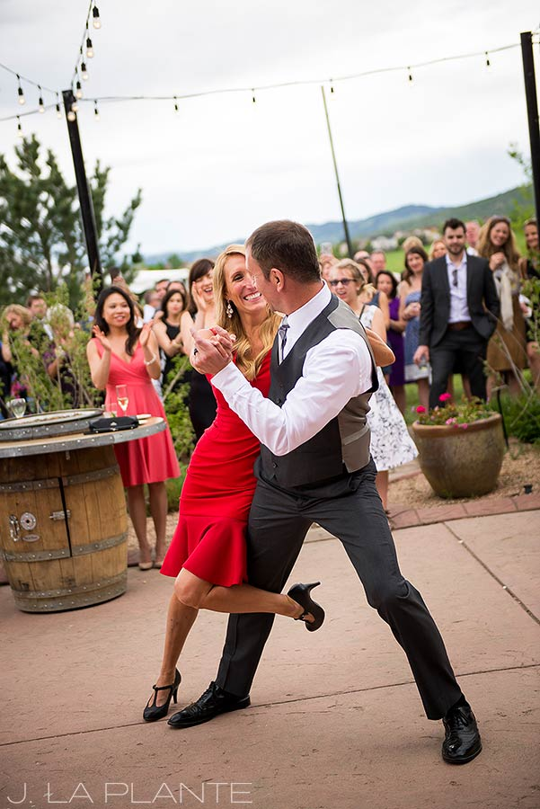J. La Plante Photo | Denver Wedding Photographer | Chatfield Botanic Gardens Wedding | Brides and Groom Dancing the Tango