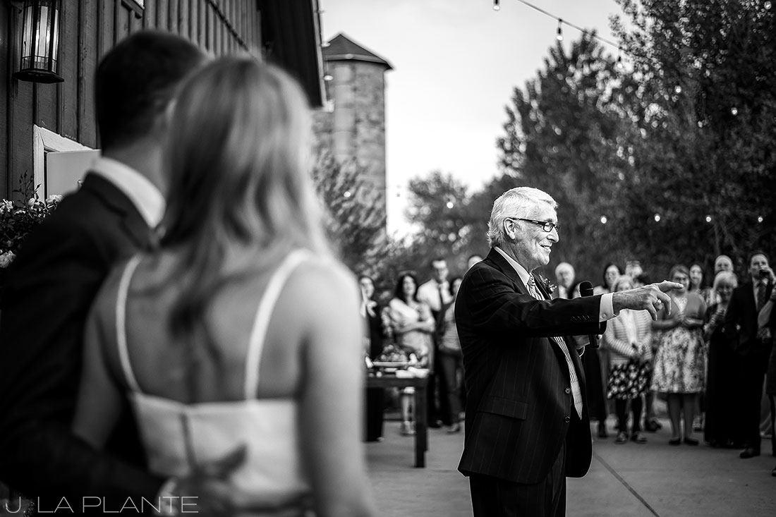 J. La Plante Photo | Denver Wedding Photographer | Chatfield Botanic Gardens Wedding | Father of the Bride Speech