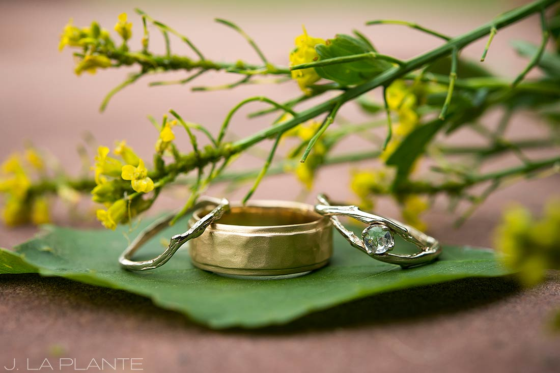 J. LaPlante Photo | Boulder Wedding Photographers | River Bend Wedding | Unique Wedding Rings