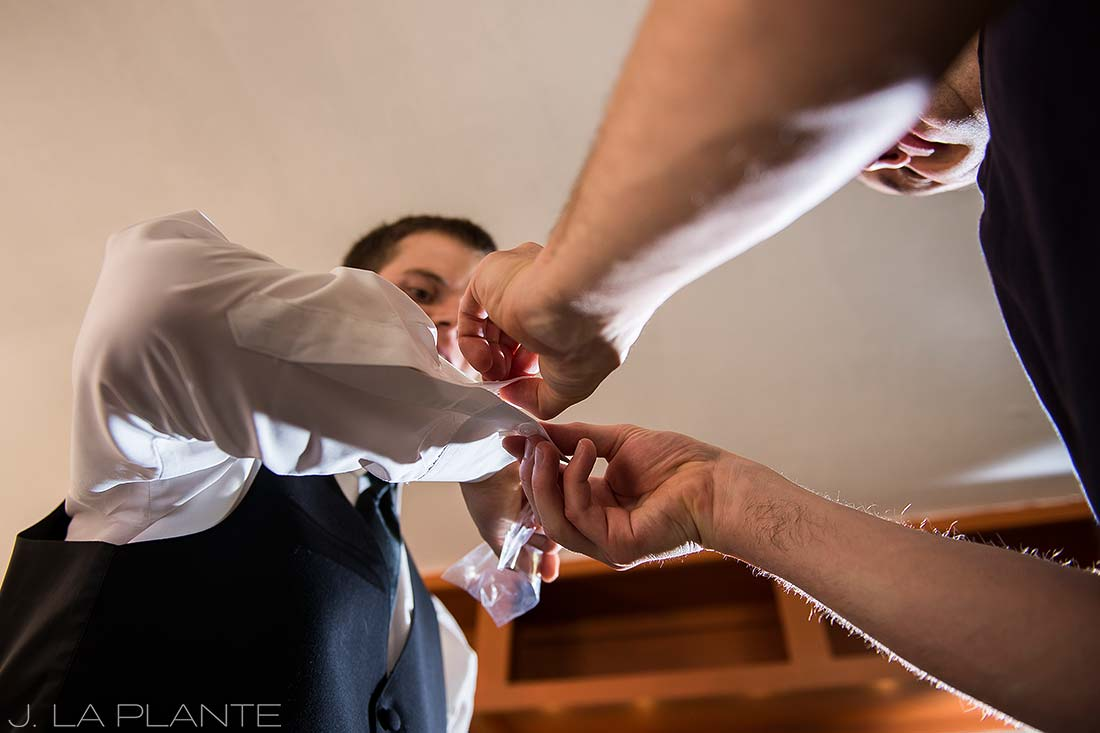 J. LaPlante Photo | Boulder Wedding Photographers | River Bend Wedding | Groom's Cufflinks