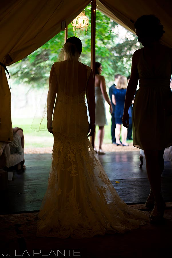 J. LaPlante Photo | Boulder Wedding Photographers | River Bend Wedding | Bride Silhouette