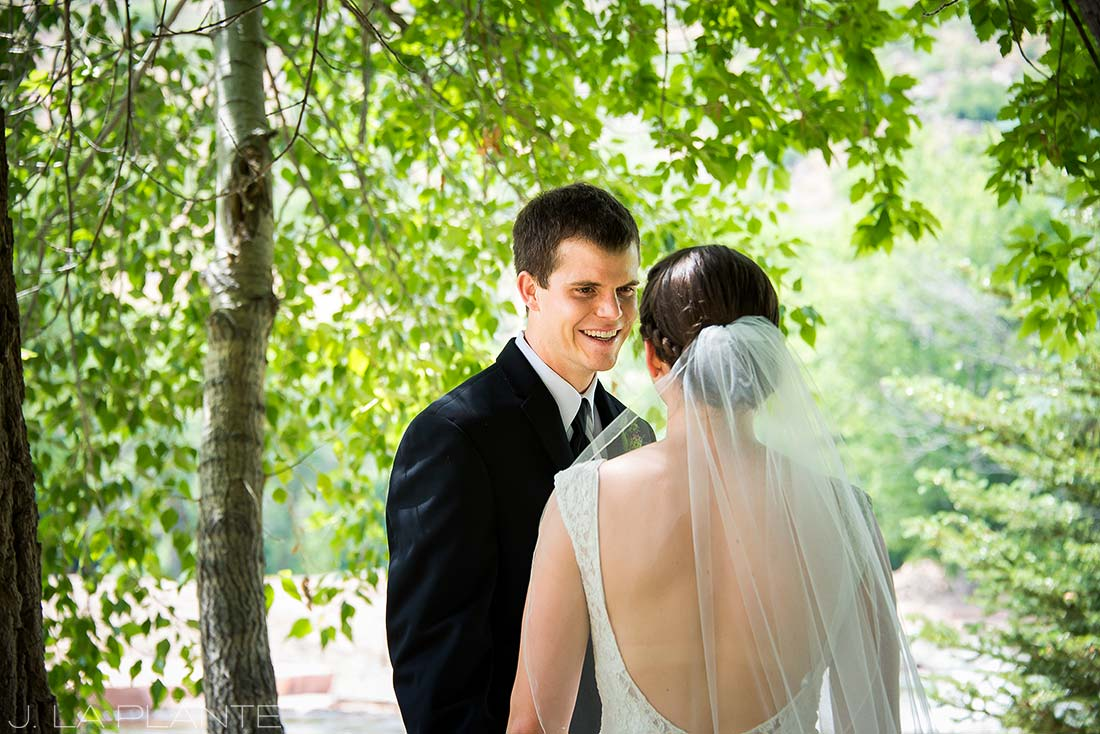 J. LaPlante Photo | Boulder Wedding Photographers | River Bend Wedding | First Look Wedding