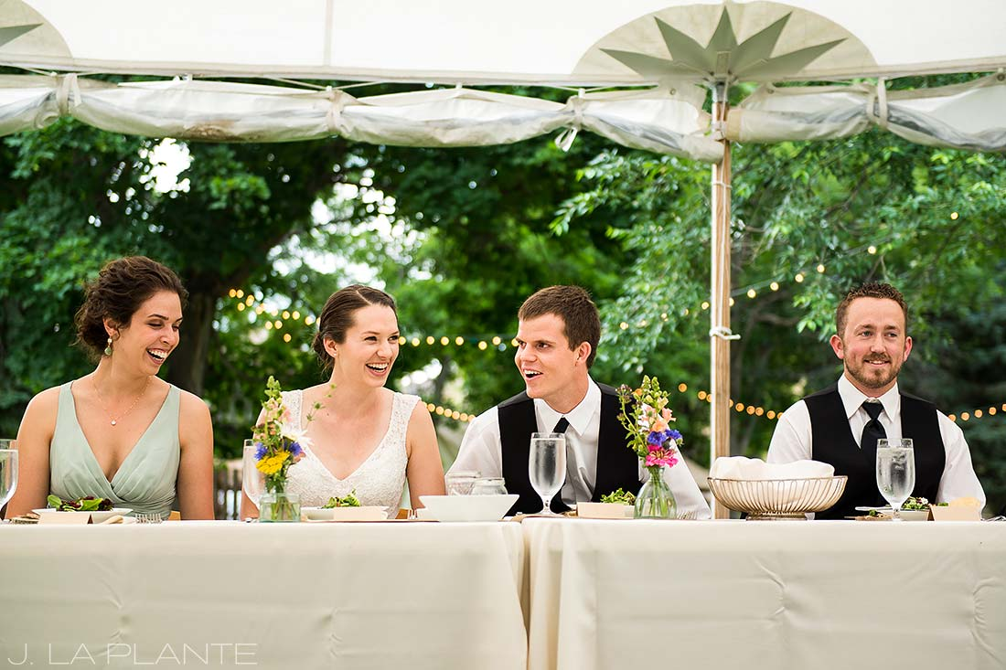 J. LaPlante Photo | Colorado Wedding Photographers | River Bend Wedding | Wedding Toasts