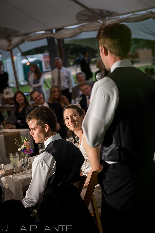 J. LaPlante Photo | Colorado Wedding Photographers | River Bend Wedding | Best Man Speech