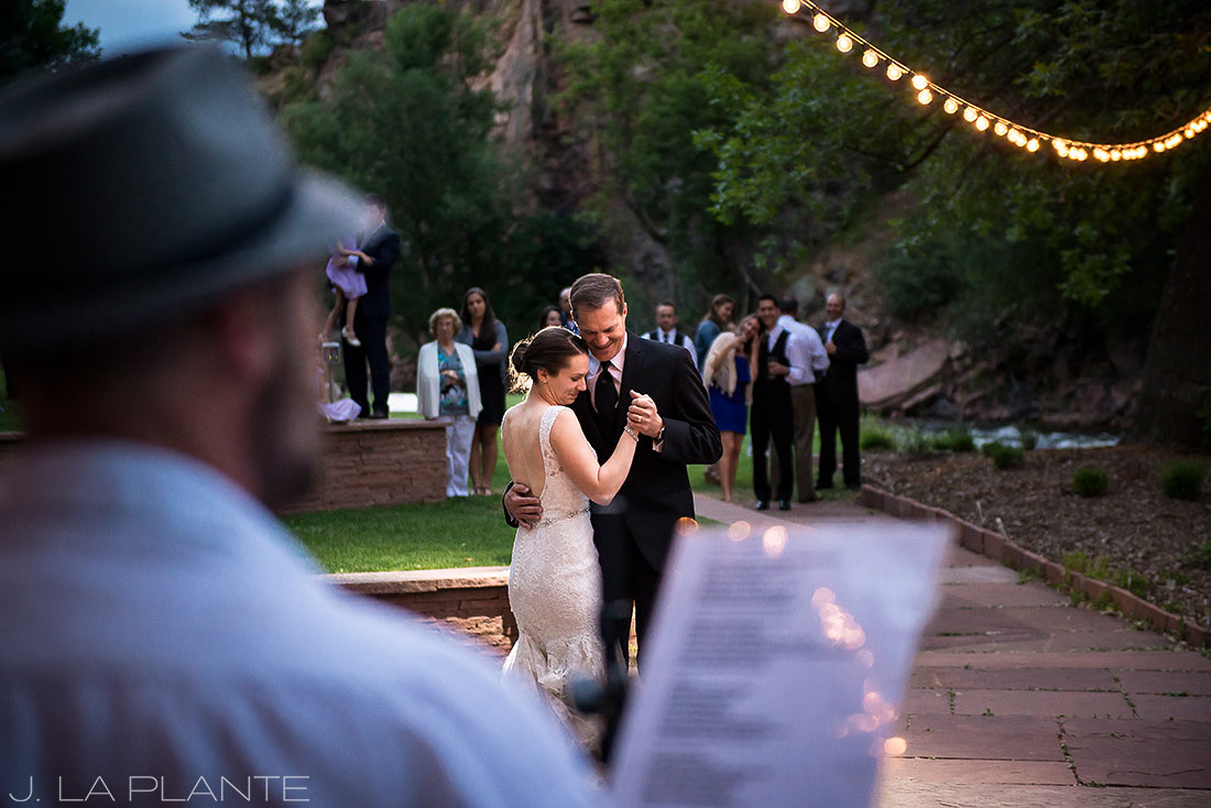J. LaPlante Photo | Colorado Wedding Photographers | River Bend Wedding | Father Daughter Dance