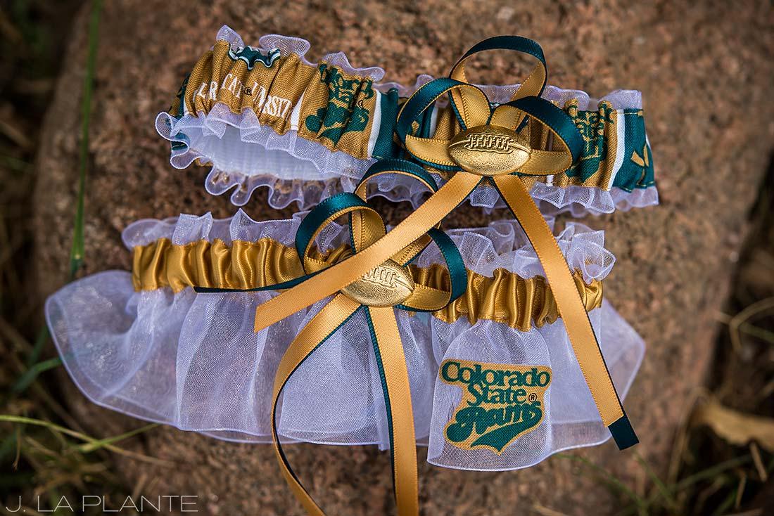 J. LaPlante Photo | Lyons Wedding Photographer | Mon Cheri Wedding | Colorado State Rams Garter