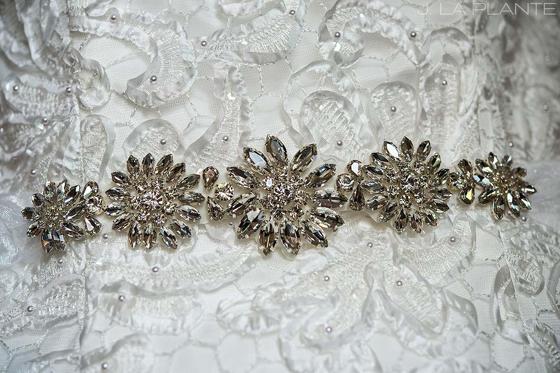 J. La Plante Photo | Boulder Wedding Photographers | Millennium Hotel Wedding | Wedding Dress Detail Photo