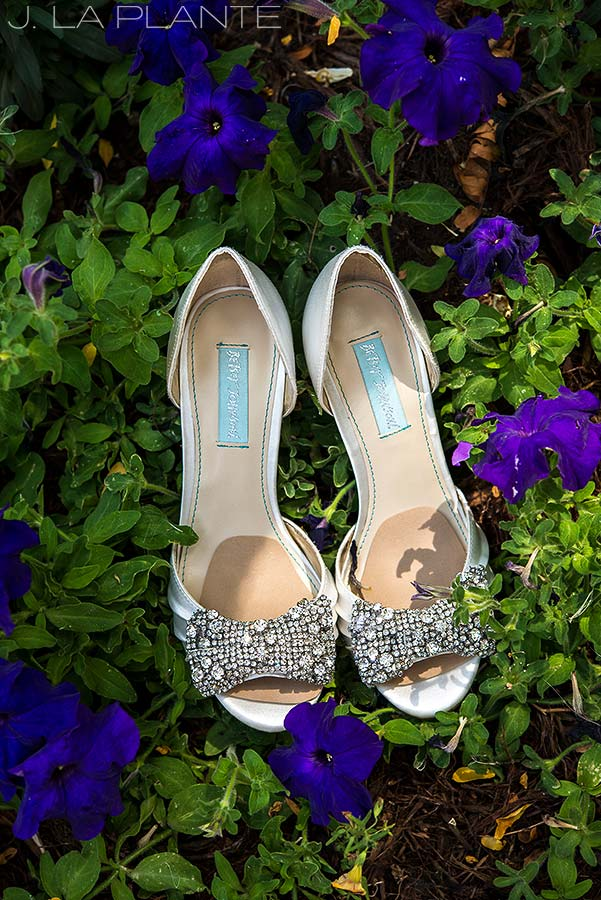 bride wearing cool shoes