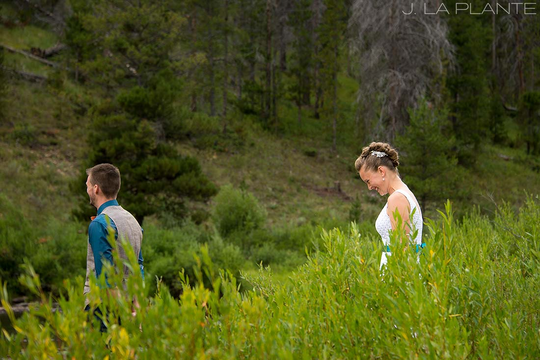 J. La Plante Photo | Grand County Colorado Wedding Photographer | Shadow Mountain Ranch Wedding | Bride and Groom First Look