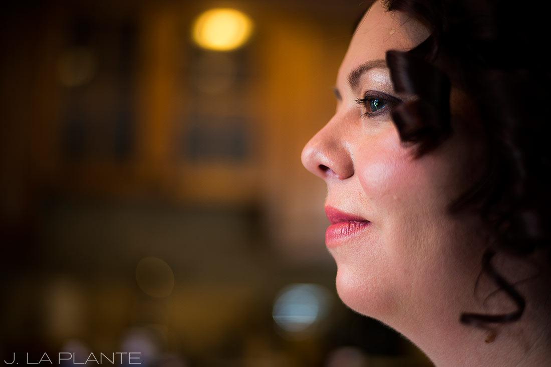 J. La Plante Photo | Vail Wedding Photographers | Lion Square Lodge Wedding | Bride Getting Ready