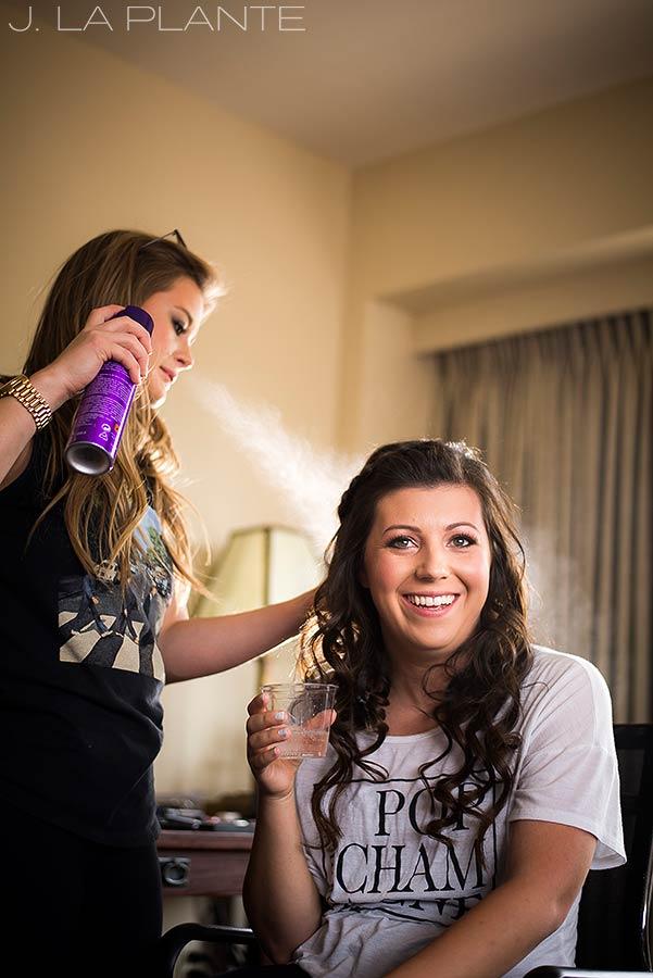 J. La Plante Photo | Boulder Wedding Photographers | Millennium Hotel Wedding | Bride Getting Ready