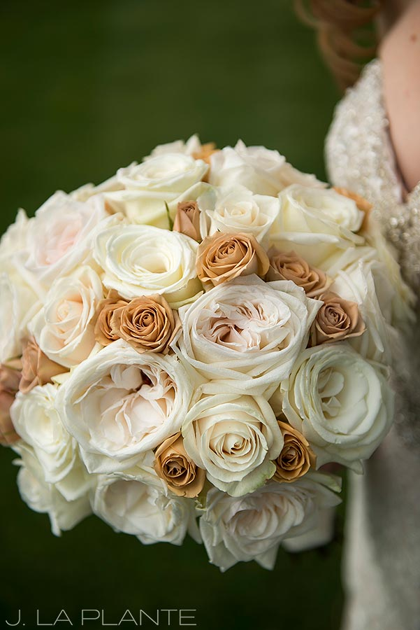 J. LaPlante Photo | Colorado Springs Wedding Photographers | Cheyenne Mountain Resort Wedding | Bride Bouquet Detail Photo