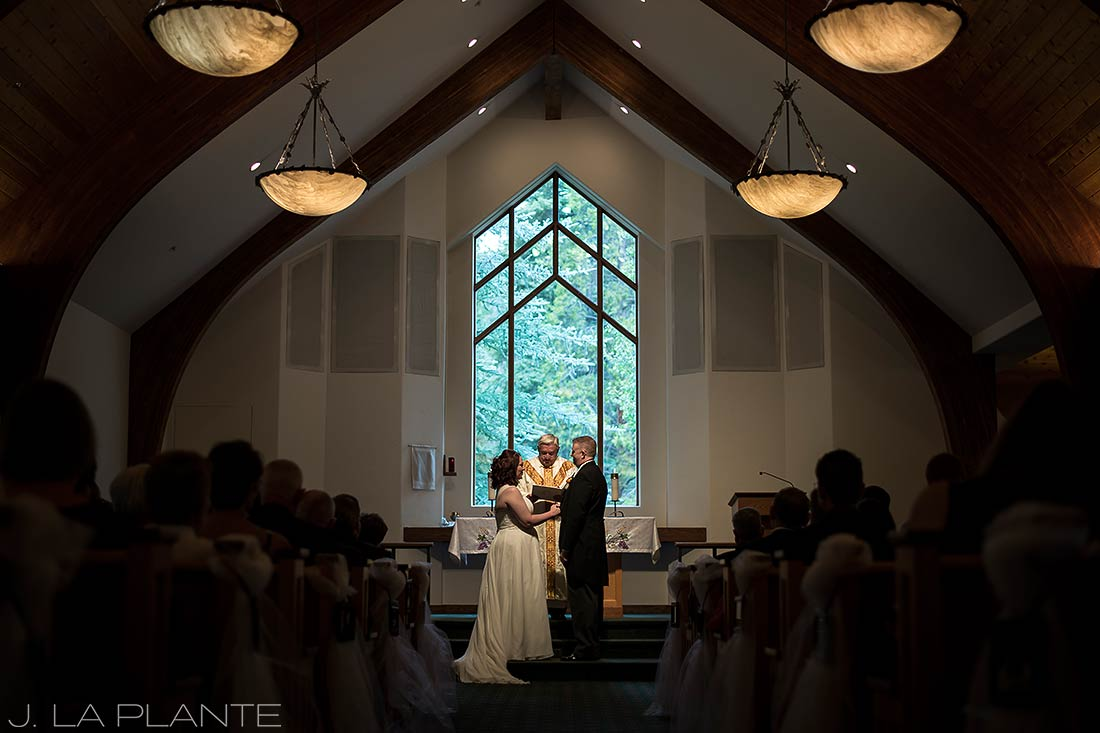 J. La Plante Photo | Vail Wedding Photographers | Vail Interfaith Chapel Wedding | Catholic Wedding Ceremony