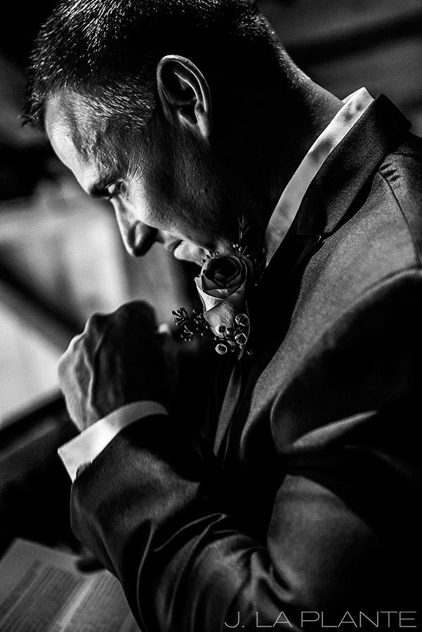 J. La Plante Photo | Winter Park Colorado Wedding Photographer | Devil's Thumb Ranch Wedding | Groom Reading Bride's Letter