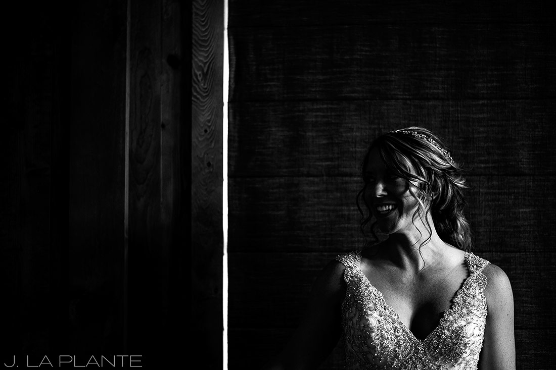 J. La Plante Photo | Winter Park Colorado Wedding Photographer | Devil's Thumb Ranch Wedding | Bride Anticipation Before Ceremony