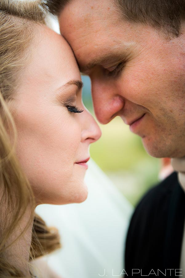 J. LaPlante Photo | Colorado Springs Wedding Photographers | Cheyenne Mountain Resort Wedding | Bride and Groom Close Up Portrait