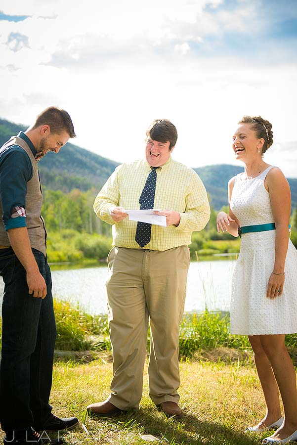 J. La Plante Photo | Colorado Wedding Photographer | Shadow Mountain Ranch Wedding | Lakeside Wedding Ceremony