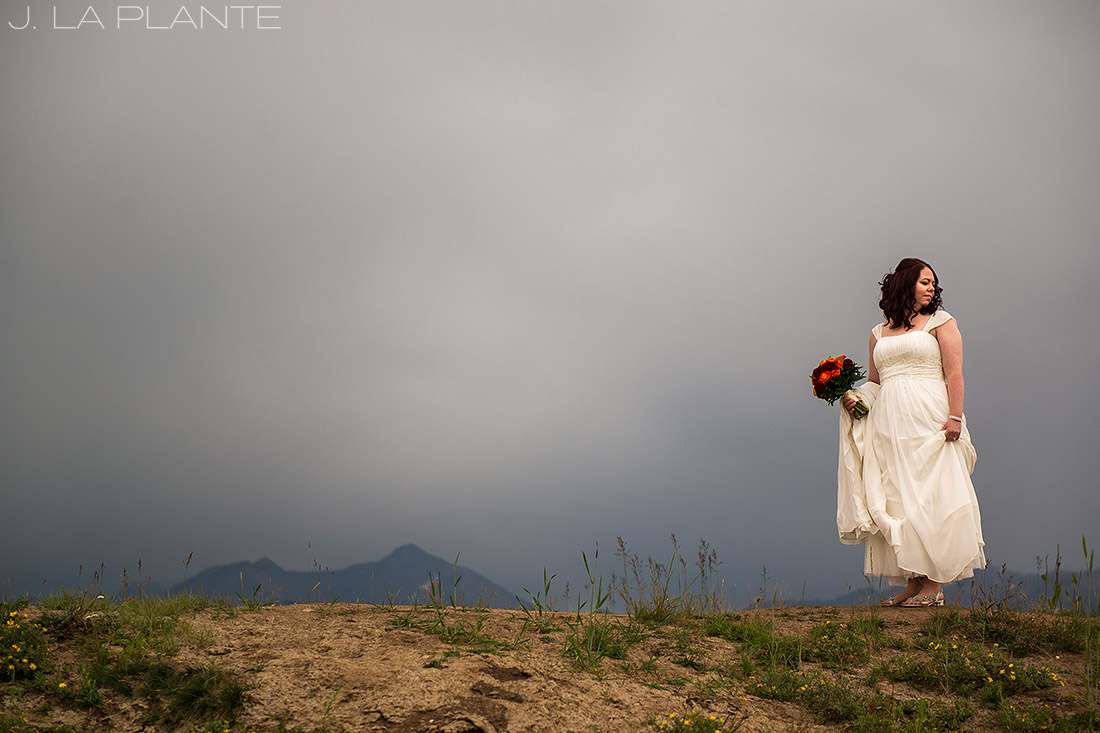 J. La Plante Photo   Vail Wedding Photographers   Vail Mountain Resort Wedding   Portrait of Bride on Mountain