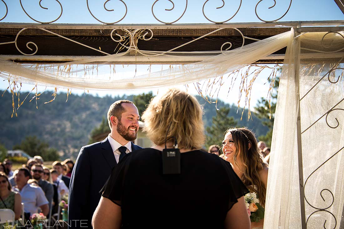 J. LaPlante Photo | Boulder Wedding Photographer | Mon Cheri Wedding | Knowing Glance Between Bride and Groom