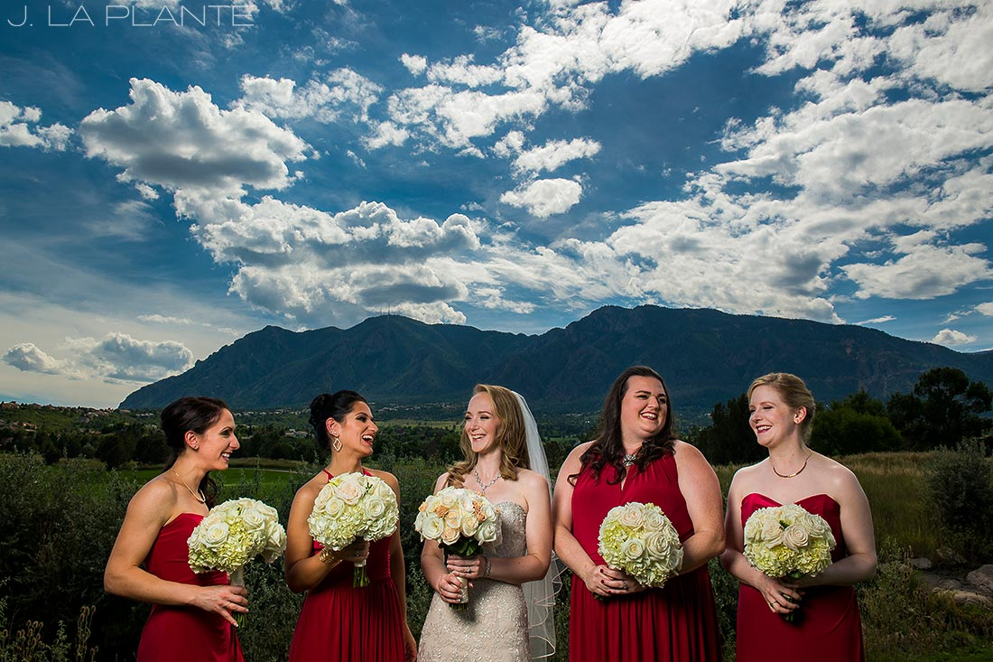 J. LaPlante Photo | Colorado Springs Wedding Photographers | Cheyenne Mountain Resort Wedding | Cool Bridesmaids Photo