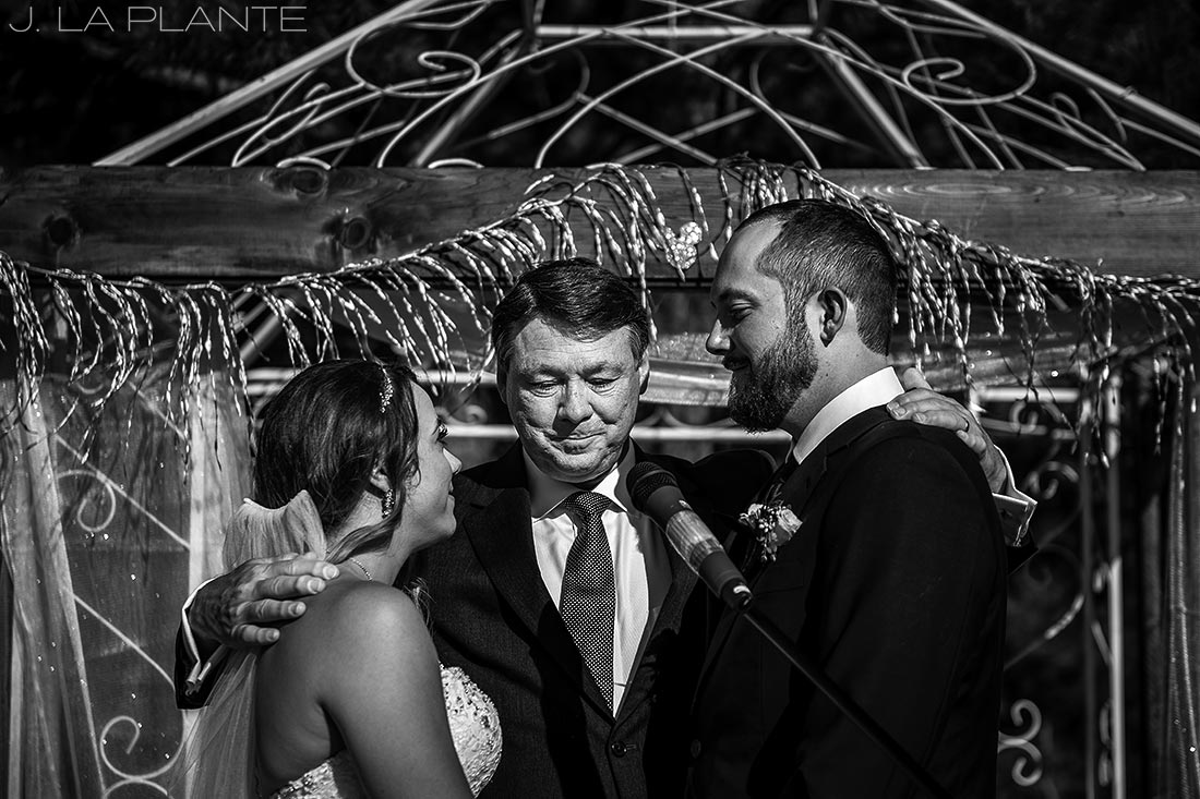 J. LaPlante Photo | Boulder Wedding Photographer | Mon Cheri Wedding | Father of Bride Giving Blessing