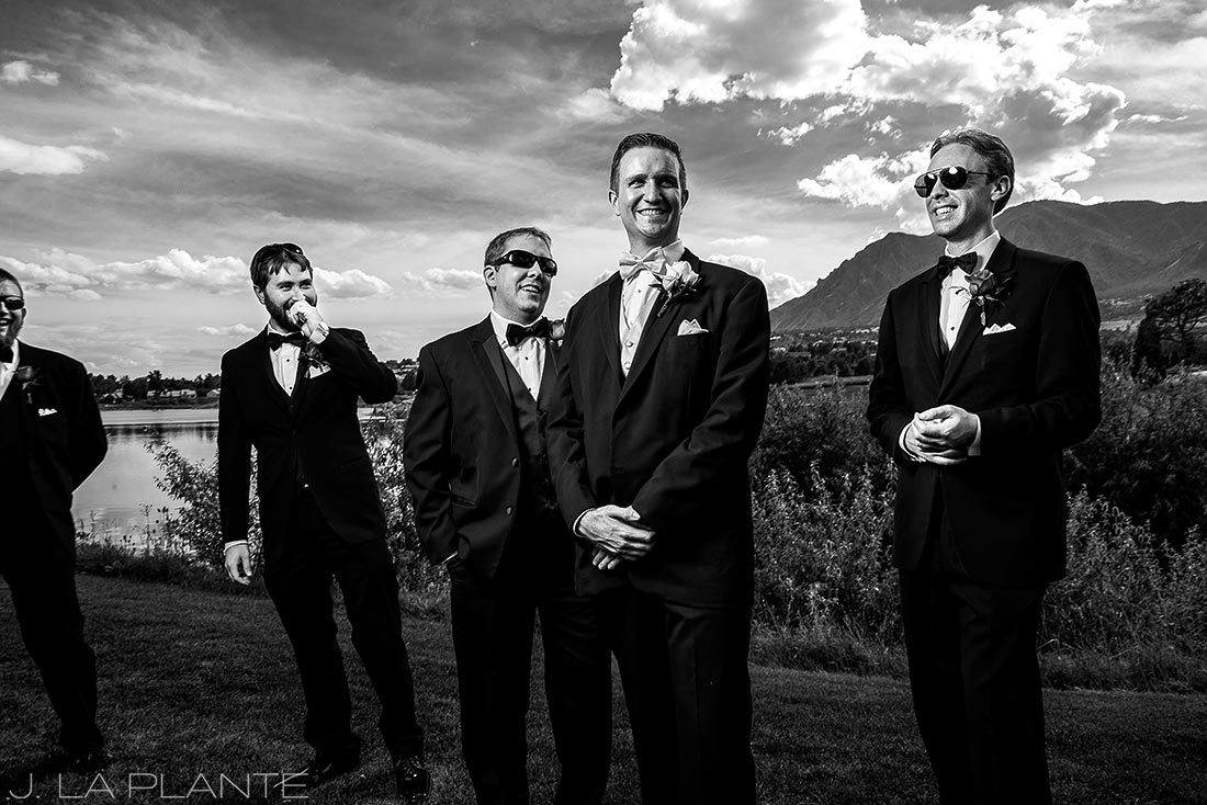 J. LaPlante Photo | Colorado Springs Wedding Photographers | Cheyenne Mountain Resort Wedding | Cool Groomsmen Photo