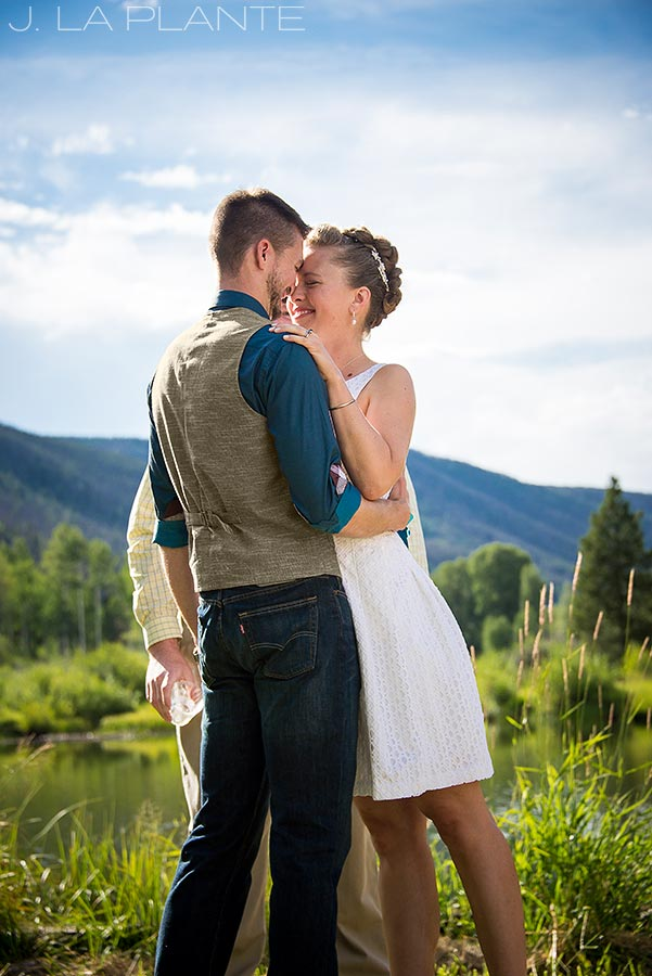 J. La Plante Photo | Rocky Mountain Wedding Photographer | Shadow Mountain Ranch Wedding | The Kiss
