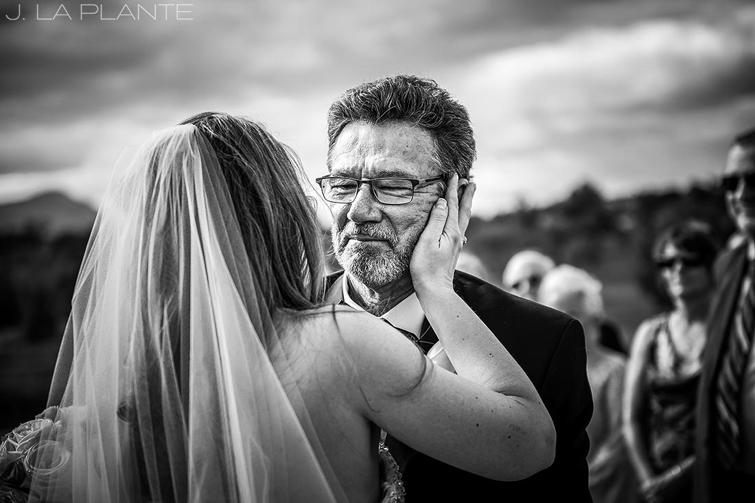 J. LaPlante Photo | Colorado Springs Wedding Photographers | Cheyenne Mountain Resort Wedding | Father Giving Daughter Away