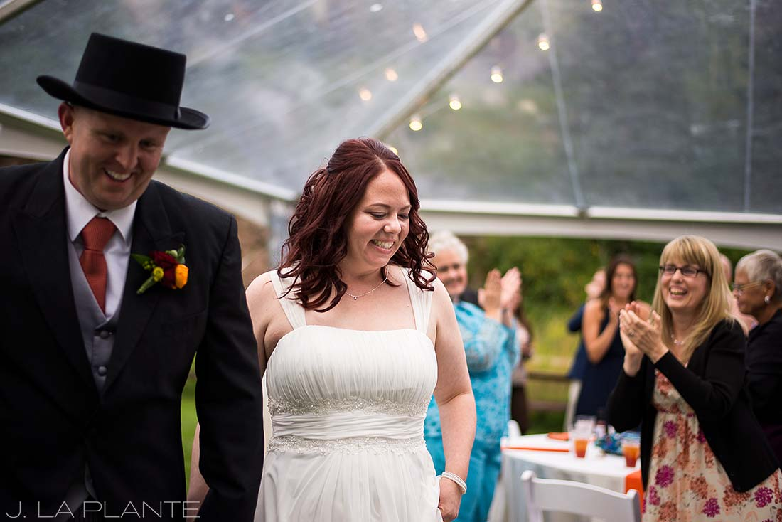 J. La Plante Photo | Vail Wedding Photographers | Lion Square Lodge Wedding | Bride and Groom Introduction