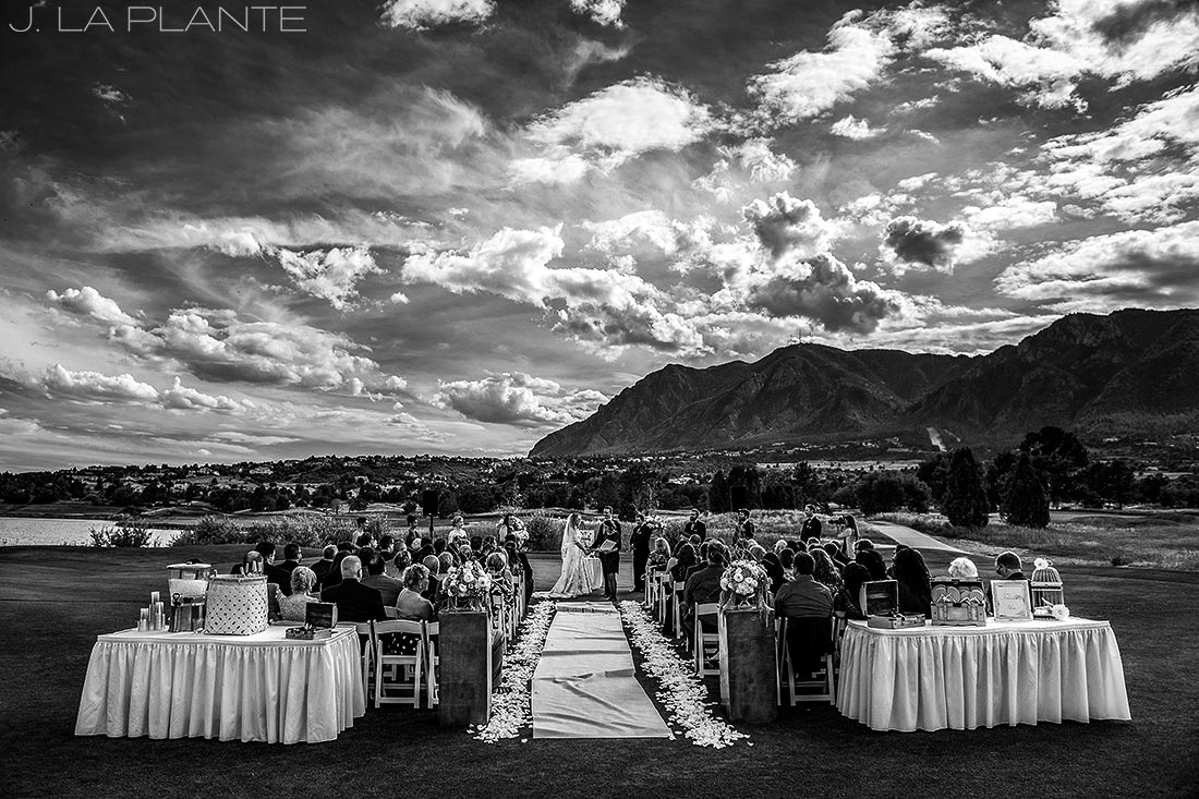 J. LaPlante Photo | Colorado Springs Wedding Photographers | Cheyenne Mountain Resort Wedding | Outdoor Mountain Wedding Ceremony