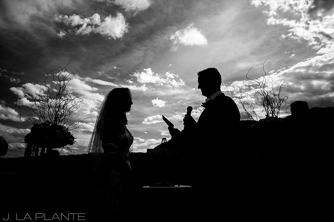 J. LaPlante Photo | Colorado Springs Wedding Photographers | Cheyenne Mountain Resort Wedding | Bride and Groom Vows