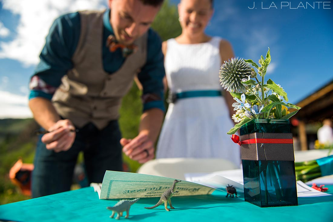J. La Plante Photo | Rocky Mountain Wedding Photographer | Granby Colorado Wedding | Signing the Marriage License