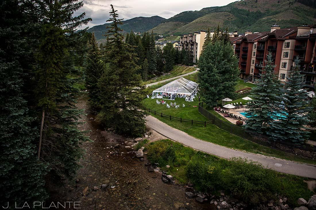 J. La Plante Photo | Vail Wedding Photographers | Lion Square Lodge Wedding | Wedding Reception Tent