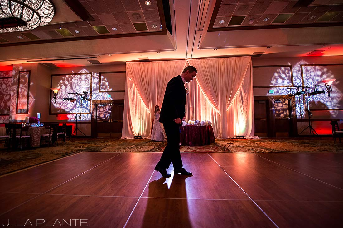 J. LaPlante Photo | Colorado Springs Wedding Photographers | Cheyenne Mountain Resort Wedding | Groom Doing the Moonwalk