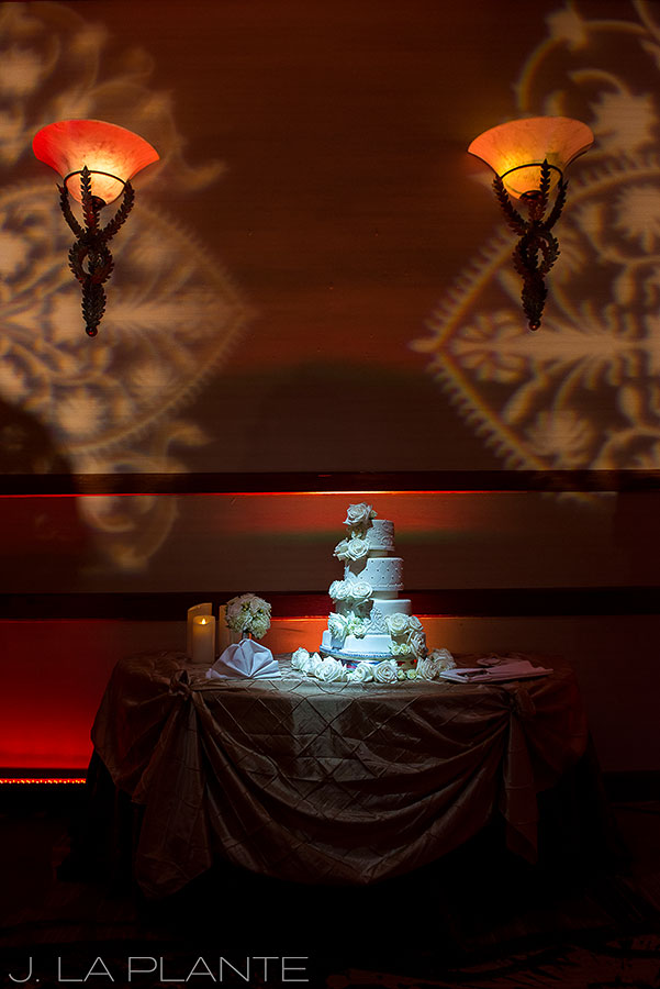 J. LaPlante Photo | Colorado Springs Wedding Photographers | Cheyenne Mountain Resort Wedding | Wedding Cake Photo
