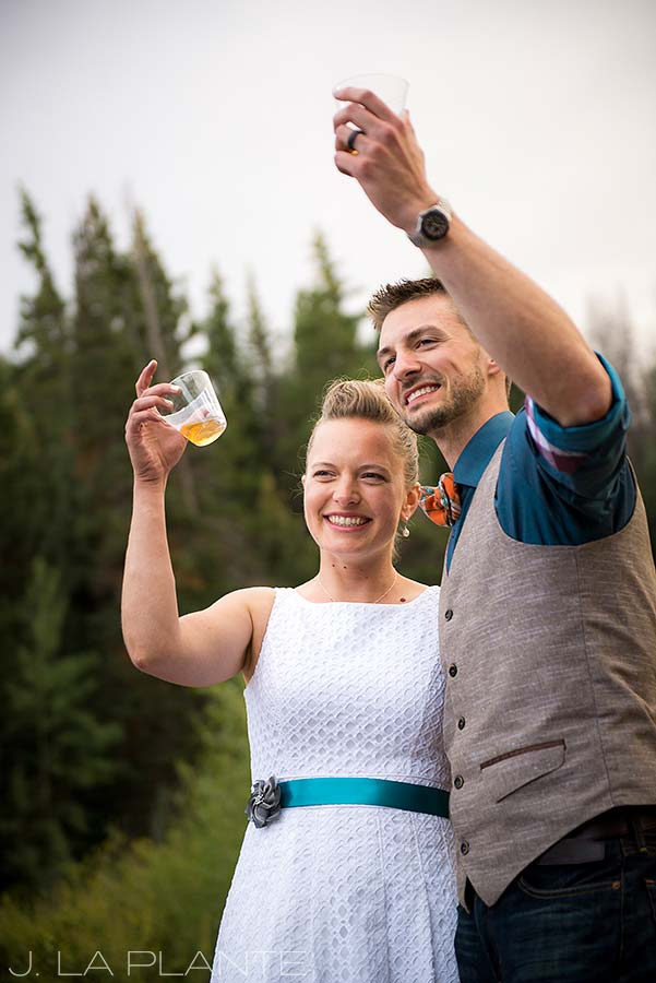 J. La Plante Photo | Grand County Wedding Photographer | Granby Colorado Wedding | Wedding Toasts