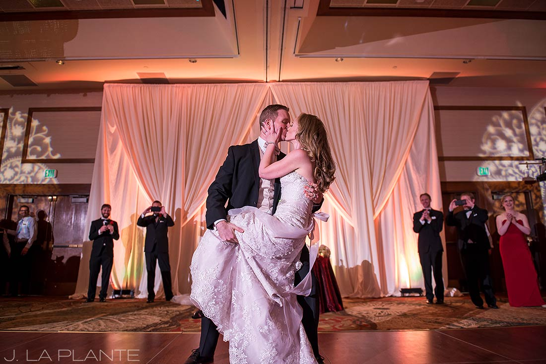 J. LaPlante Photo | Colorado Springs Wedding Photographers | Cheyenne Mountain Resort Wedding | Bride and Groom First Dance