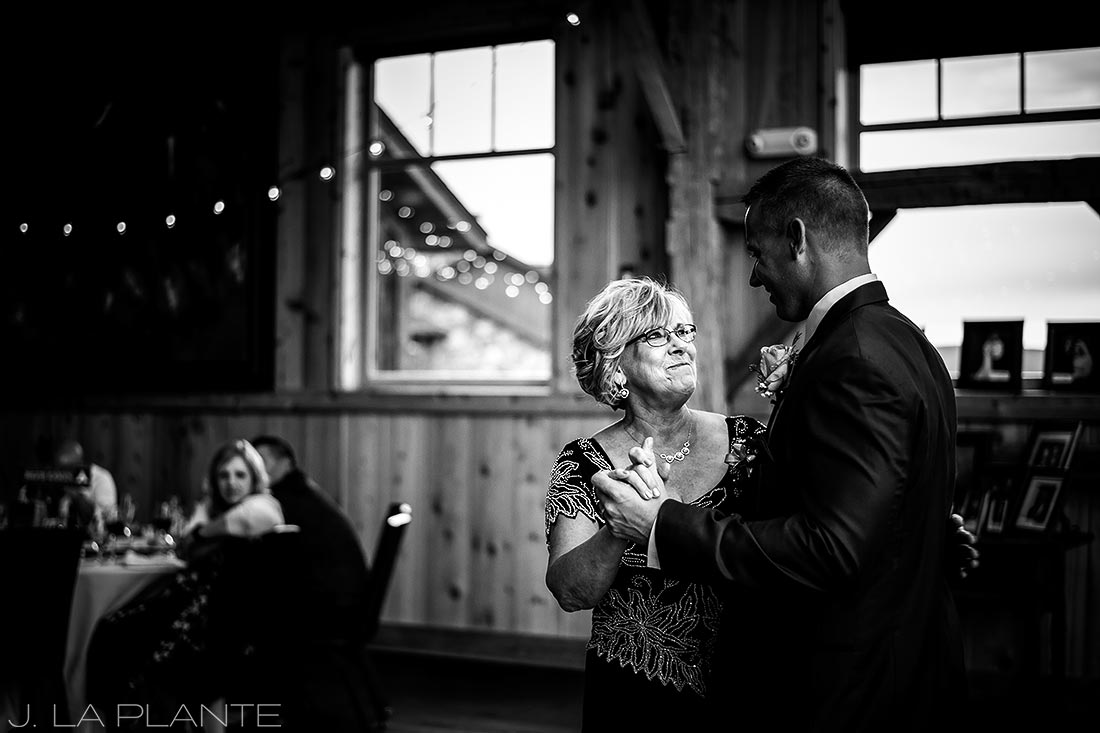 J. La Plante Photo | Winter Park Colorado Wedding Photographer | Devil's Thumb Ranch Wedding | Mother Son Dance