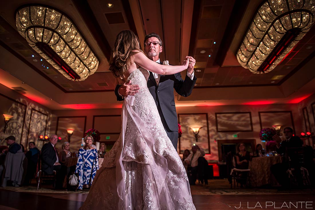 J. LaPlante Photo | Colorado Springs Wedding Photographers | Cheyenne Mountain Resort Wedding | Father Daughter Dance