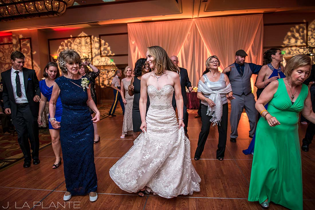 J. LaPlante Photo | Colorado Springs Wedding Photographers | Cheyenne Mountain Resort Wedding | Cupid Shuffle Choreographed Dance