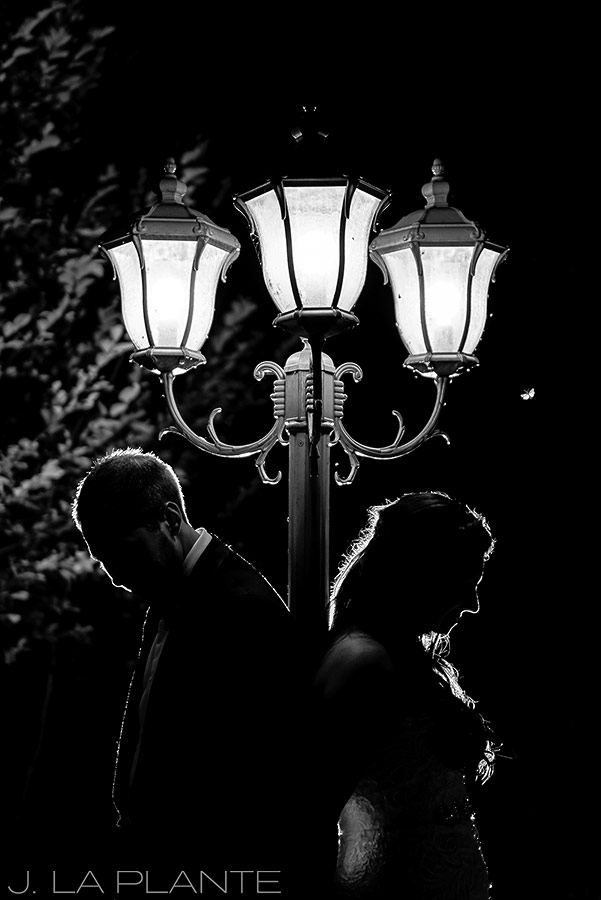 J. La Plante Photo | Boulder Wedding Photographers | Wedgewood on Boulder Creek Wedding | Night Wedding Portrait
