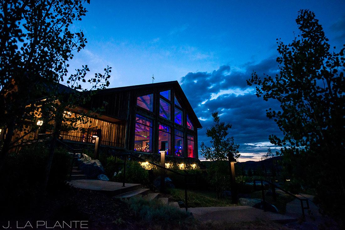 J. La Plante Photo | Winter Park Colorado Wedding Photographer | Devil's Thumb Ranch Wedding | Sunset Wedding Photo