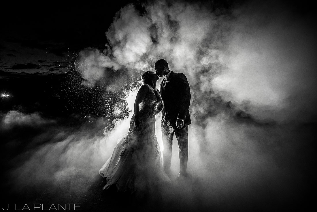 J. La Plante Photo | Winter Park Colorado Wedding Photographer | Devil's Thumb Ranch Wedding | Cool Wedding Portrait
